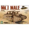 Takom WWI Heavy Battle Tank Mk.I male 2in1 tank harcjármű makett Takom 2031