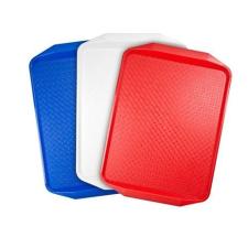 . Tálca, műanyag, szögletes, 43x28 cm, piros konyhai eszköz