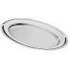 . Tálca, ovális, rozsdamentes acél, 31x21 cm