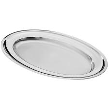 . Tálca, ovális, rozsdamentes acél, 31x21 cm konyhai eszköz