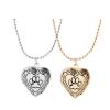 Tappancs mintájú szív alakú képtartó függő medál nyaklánccal, arany