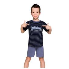 Taro Max fiú pizsama autóval, csíkos 92 gyerek hálóing, pizsama