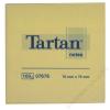 TARTAN Öntapadó jegyzettömb, 76x76 mm, 100 lap, 12 tömb/cs, TARTAN, sárga (LPT7676)