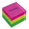 TARTAN Öntapadó jegyzettömb, 76x76 mm, 100 lap, 6 tömb/cs, , vegyes neon színek
