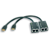 Techly HDMI extender kábel, Cat.5e/6, 30m-ig