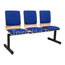 Teirodád.hu ANT-1323 TLN fa várótermi pad 3 üléssel tárgyalószék