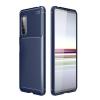 Telealk Sony Xperia 5 II ütésálló, karbon mintás, szilikon tok, kék