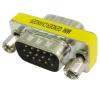 Telealk VGA (apa) - VGA (apa) toldó adapter