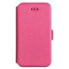 Telone Book Pocket oldalra nyíló fényes bőrbevonatos támasztós fliptok Sony E6833, E6853 Z5 Premium-hoz pink*