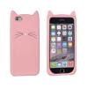 Telone Funny Cat szilikon tok Samsung A320 Galaxy A3 2017-hez rózsaszín