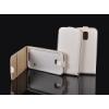 Telone Pocket Slim lefelé nyíló fényes bőrbevonatos fliptok HTC One M9-hez fehér*