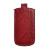 Telone Special Creased álló kihúzhatós bőrtok Samsung i9100 Galaxy S2 méretű piros*