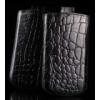 Telone Special Croco álló kihúzhatós bőrtok Samsung i9070 Galaxy S Advance méretű fekete*