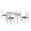 Tempo BRISBO Étkező szett : 1x asztal / 4x szék, több színben