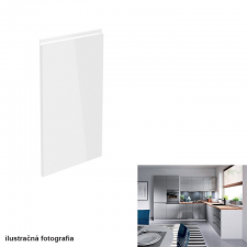 Tempo Előlap mosogatógépre, fehér-szürke extra magasfényű HG, 44,6x571,3, AURORA bútor