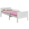 TEMPO KONDELA Állítható hosszúságú ágy, fehér, EUNIKA