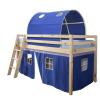 TEMPO KONDELA Magasított ágy, természetes/kék, 90x200, INDIGO