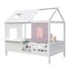 TEMPO KONDELA Montessori ágy, fehér, 90x200, BIBIANA