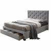 Tempo SANTOLA luxus modern ágy lécezett ágyráccsal, nagy steppelt fejtámlával