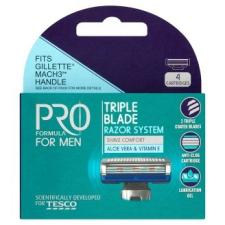 Tesco Pro Formula for Men Rightfit 3. hárompengés borotvafejek 4 db eldobható borotva