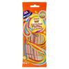 Tesco Tesco Candy Carnival Multicolour Belts cukorral bevont többszínű, gyümölcsízű édesség 75 g