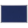 Textiltábla, 210x120 cm, alumínium keret, kék