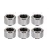 Thermaltake Pacific C-PRO G1/4 PETG Tube 16mm OD Compression – Chrome 6 pack (CL-W213-CU00SL-B)