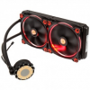Thermaltake Water 3.0 Riing kompakt vízhűtés, piros  - 280 mm /CL-W138-PL14RE-A/