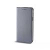Tok, mágneses oldalra nyíló Smart flip tok, Sony XA, szürke, (szilikon belsővel), csomagolás nélküli