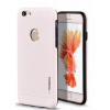 Tok, Motomo, szálcsiszolt aluminium hátlap, szilikon kerettel, Apple Iphone 7 / 8, fehér