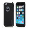 Tok, Motomo, szilikon hátlap színes kerettel, Apple Iphone X, fekete-szürke
