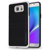 Tok, Motomo, szilikon hátlap színes kerettel, Samsung Galaxy J3 (2017) J330, fekete-ezüst