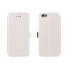 Tok, oldalra nyíló flip tok, HTC M10, fehér, flexi, csomagolás nélküli