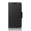Tok, Telone Fancy oldalra nyíló flip tok, szilikon belsővel, HTC Desire 816, fekete, csomagolás nélküli