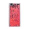 Tok, Water Case szilikon tok, Huawei P20, Stars, átlátszó, piros csillámmal