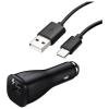 Töltő, autós, Samsung autós töltőfej (EP-LN915U), kábel /EP-DG950/, 2A, gyári, gyorstöltő, (Type-C), fekete, csomagolás nélküli
