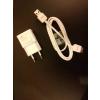 Töltő, hálózati, Samsung töltőfej /ETA-90E/, kábel /ET-DQ10Y0WE/, 2A, gyári, (Tab3), fehér, csomagolás nélküli