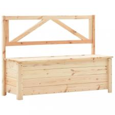 Tömör fenyőfa tárolópad 120 cm kerti bútor