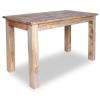 tömör újrahasznosított fa étkezőasztal 120 x 60 77 cm
