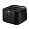 "TOOQ Kettős Dokkolóállomás TooQ TQDS-802B 2.5""-3.5"" HDD SATA USB 3.0 Fekete"