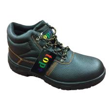 TOP WORK S3 munkavédelmi bakancs, acél orrmerevítő és talplemez, bőr felsőrész, PU talp, fekete, 47 munkavédelmi cipő