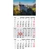 TOPTIMER T072, 1 tömbből álló 3 havi speditőr naptár - Kastély fejrésszel