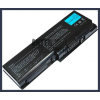 Toshiba Satellite P205D Series 6600 mAh 9 cella fekete notebook/laptop akku/akkumulátor utángyártott