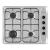 TotalCook E440C beépíthető inox gázfőzőlap