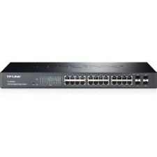 TP-Link 24-Port Gigabit Smart Switch with 4 Combo SFP Slots (TL-SG2424) hub és switch