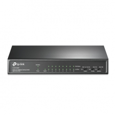 TP-Link TL-SF1009P 9-Port 10/100Mbps Desktop Switch with 8-Port PoE+ hub és switch