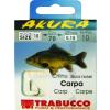 Trabucco AKURA CARP  LIBR.1/0X0,35, előkötött horog