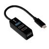 TRACER USB Type C H21 4 ports; tápegységgel