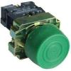 Tracon Electric Tokozott gumiburkolatos nyomógomb, fémalapra szerelt, zöld - 1xNO, 3A/240V AC, IP44 NYGBP31ZT - Tracon