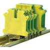 Tracon Electric Védővezető ipari sorozatkapocs, csavaros, sínre, zöld/sárga - 0,2-6mm2, 57A TSKA6JD - Tracon